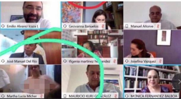 Senadora Mícher Camarena asume descuido durante sesión virtual