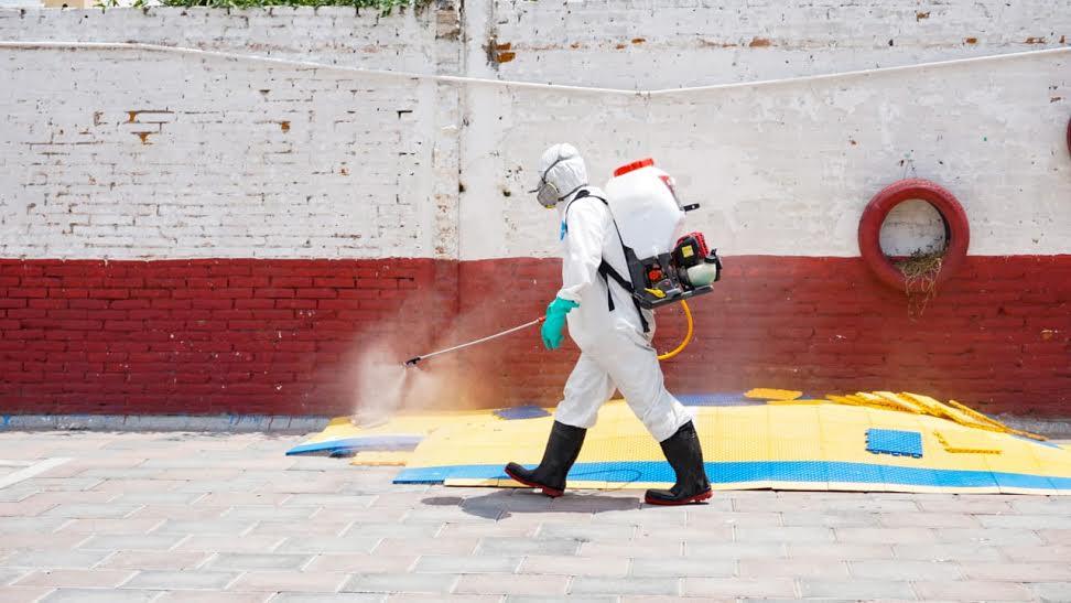 Realiza Ayuntamiento de San Andrés Cholula sanitización en San Rafael Comac