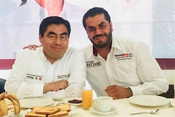 El entonces candidato a gobernador, Miguel Barbosa, impulsó la candidatura de Patjane Martínez