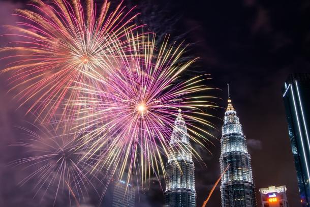 Torres Petronas en Kuala Lumpur, Malasia.