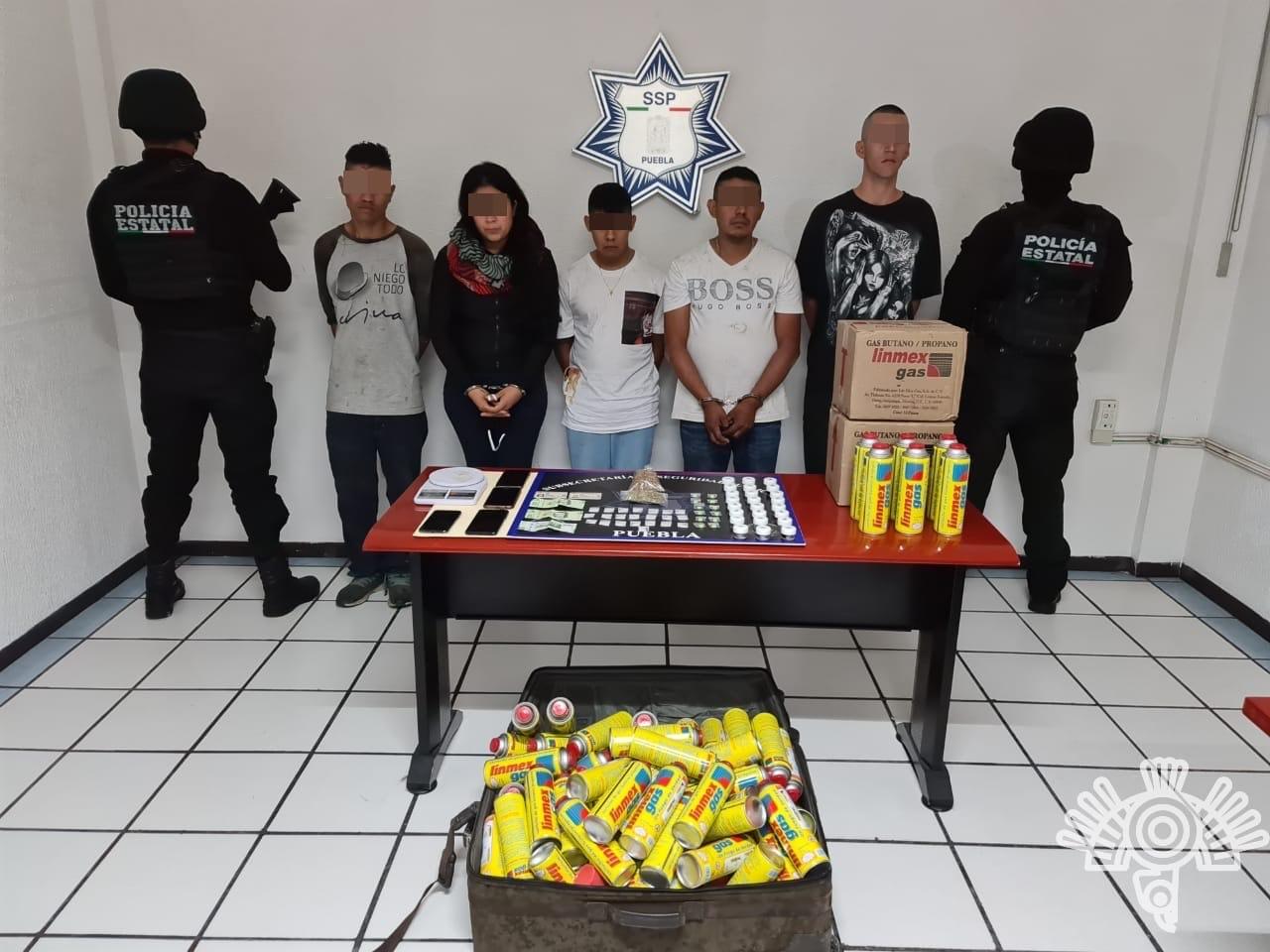 """Detiene SSP y Guardia Nacional en Palmar de Bravo a cinco ligados a """"La Unión Tepito"""""""