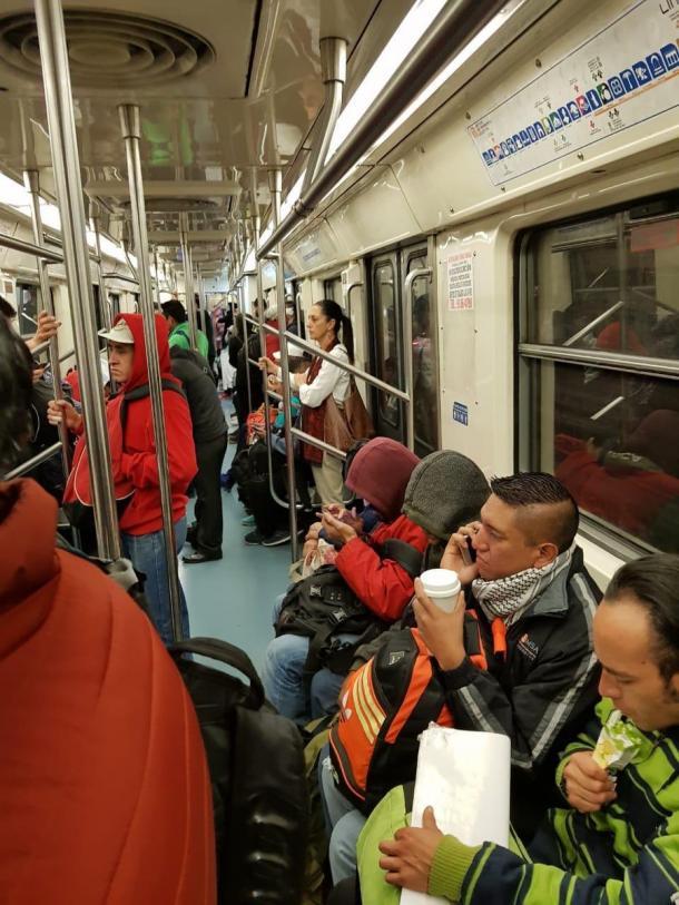 Claudia Sheinbaum en la línea 2 del Metro