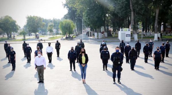 Anuncia Ayuntamiento de Huejotzingo aumento salarial a policías municipales