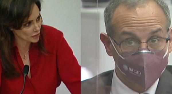 """Nombra Lilly Téllez """"ciego y mentiroso"""" a López-Gatell durante su comparecencia en el Senado"""