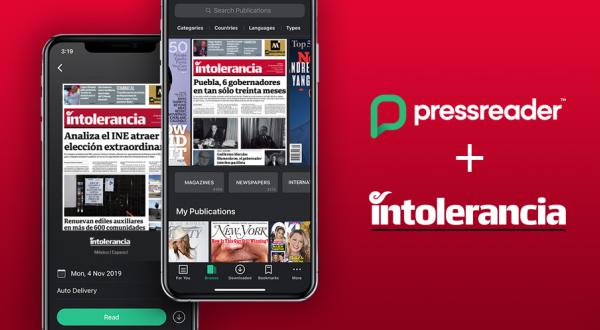 Intolerancia Diario se alía con PressReader, el quiosco digital más grande del mundo