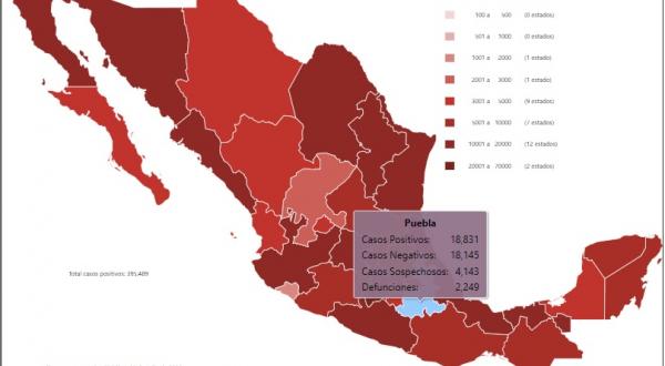 Puebla capital epicentro del Covid-19 en México