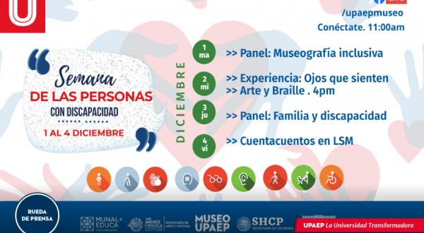 Organiza Museo UPAEP semana de la Discapacidad