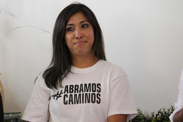 04/2018: Norma Pimentel en inauguración de su casa de campaña.