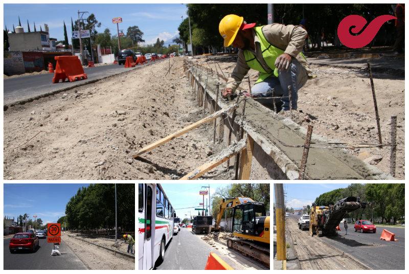 Fotos: Inician obras de rehabilitación del bulevar Xonaca