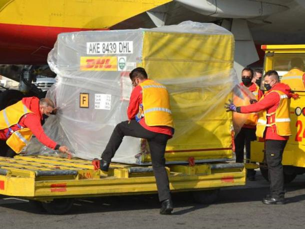 Contenedor que arribó a México | Foto: SRE
