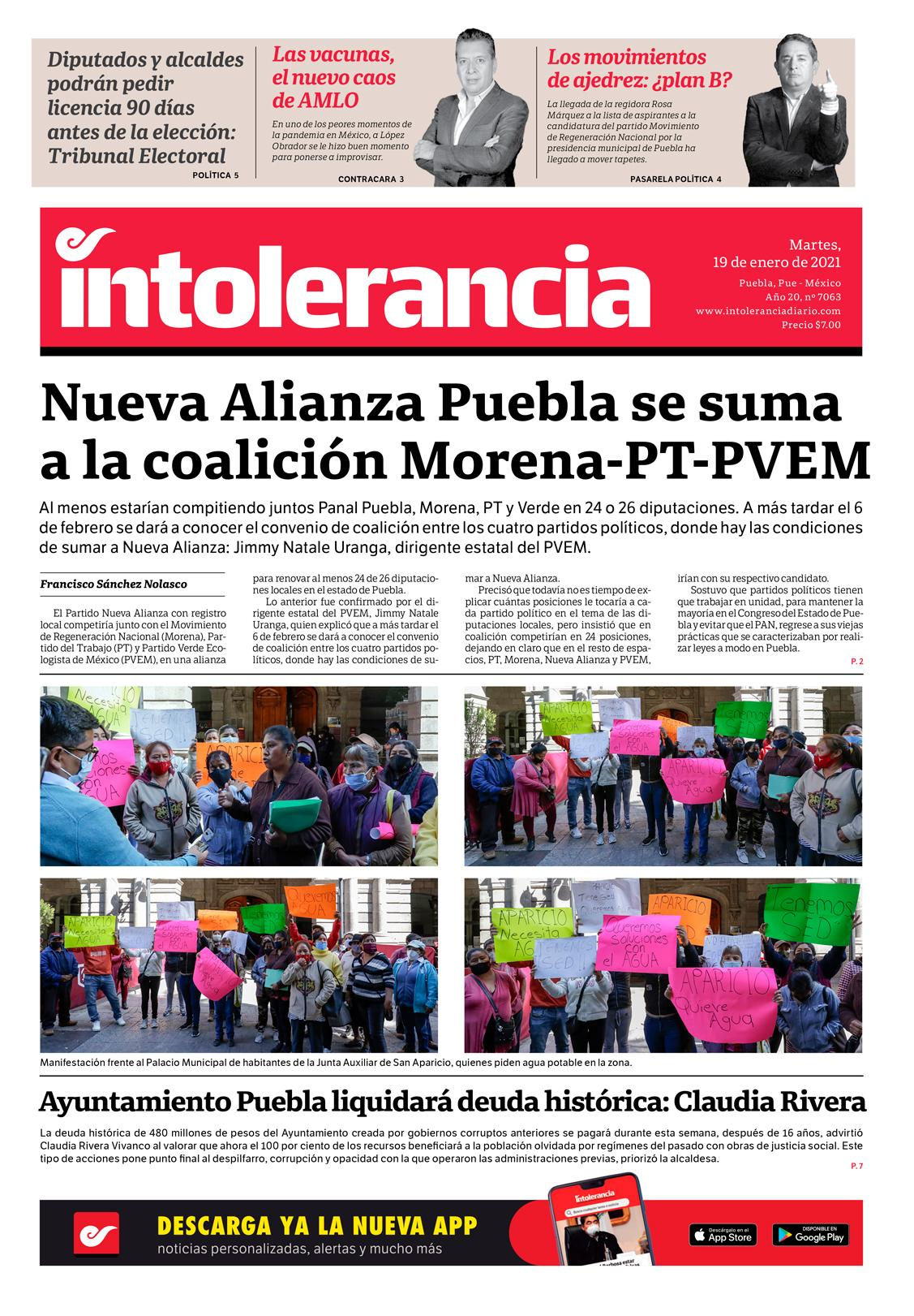 Intolerancia Diario Las Noticias De Puebla Mexico
