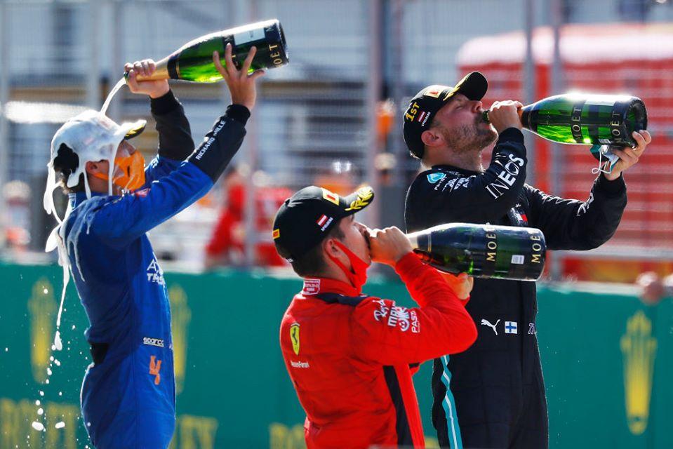 Reanudan F1; Valtteri Bottas gana un atípico Gran Premio de Austria