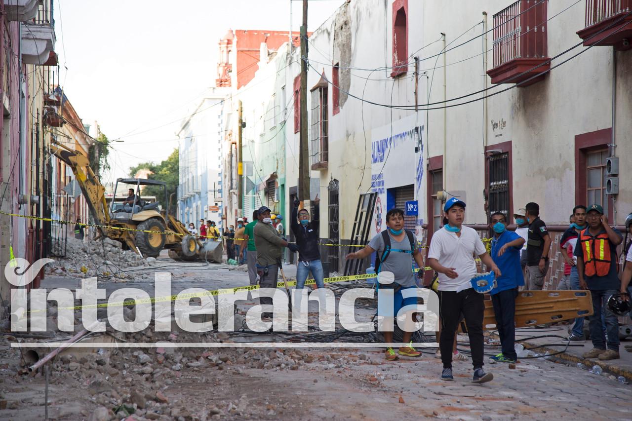 A medias reparaciones del sismo de 2017